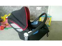 Silvercross car seat in chilli red