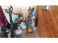 yellow DYSON DC25 MULTI FLOOR ROLLER BALL VACUUM CLEANER tools bagless 1 week guarantee no