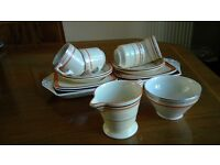 1930s Coffee cups and saucers with a sandwich set