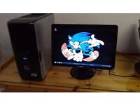 """SALE SAVE £50 - VERY FAST SSD Dell XPS 420 MINECRAFT Quad Gaming Desktop Computer PC With Dell 21"""""""