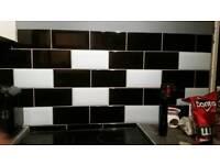 Job lot of 200 mm x 100 mm beveled brick tiles