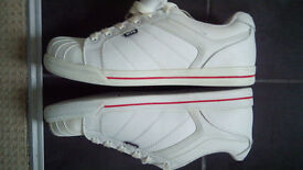 brand new white safety boots trainers size 8 but more like 9