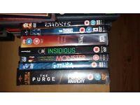 37 horror dvd's