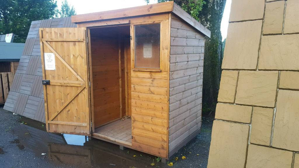 6ft x 4ft belton pent ex display garden shed 320 inc delivery installation