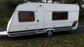 Lunar Chateau 500 2003 5 Berth caravan with U shaped Lounge