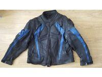 Men Leather motorbike jacket - used - L/XL
