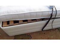 Bed with electric rise, single, good condition