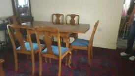 Table 6 x Chairs & Sideboard