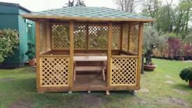 Bespoke wooden gazebo garden summer house