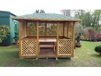 Bespoke wooden gazebo garden summer house