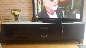 Large black TV unit