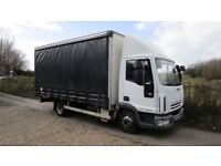 2008 7.5 TON IVECO EUROCARGO CURTAIN SIDED LORRY LEZ COMPLIANT CHEAP CLEAN LORRY