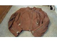 Ladies. M & S leather jacket