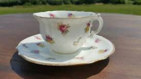 Beautiful china teacup and saucer