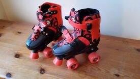 Childs Adjustable Roller Boots (Size UK 13 - 3) - Good Condition
