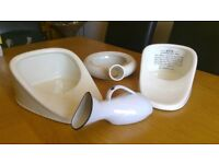 Collection of antique bedpans / urinals