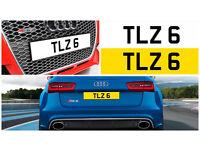 TLZ 6 Single Number Plate Audi BMW Volvo Ford Evo Subaru Kia Nissan Honda Toyota Kia GTI M3