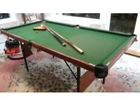Snooker Table 3 x 6 ft