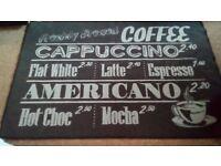 Coffee sign rug £5.00
