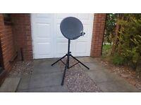 satellite dish with tripod BARGAIN £20