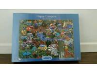 Happy Campers Jigsaw Puzzle by Gibsons Brand New