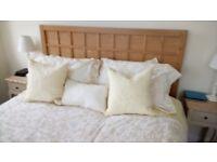 Ash Wood King size bed frame