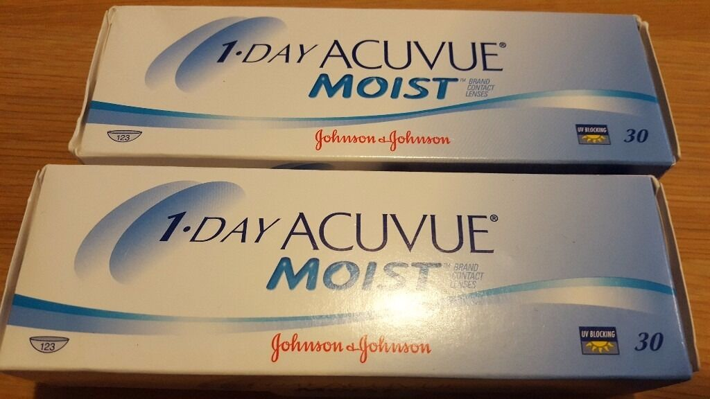 Contact lenses: Johnson & Johnson Acuvue 1-day moist -6.50 and -7.00 (78 pairs)
