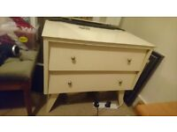 Vintage/Retro 2 Drawer Dressing Table with Mirror