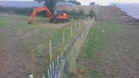 Plant hire and fencing contractor