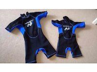Children's Shorty Wetsuit Two Bare Feet (Blue) brand new £10 each