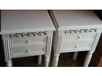 Pair of shabby chic bedside tables £50