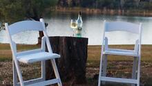Americana FOLDING RESIN CHAIR WITH PAD - White & Black Coorparoo Brisbane South East Preview