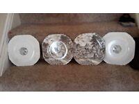 set of 4 antique enoch wedgewood(Tungstall) Ltd plates.
