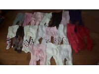 Bundle of 18 pairs 0-6 month tights