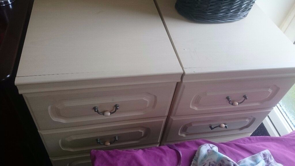 2 Chest Of Drawers Creamy Colour