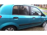 Hyundai Getz 1.086 blue (2004) MOTD to 20/05/2018. Great driving car. New clutch,timing belt etc
