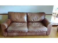 Bentalls 3 seater Leather Sofa