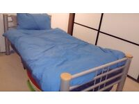 Single bed, metal frame with mattress (optional) **FREE IF COLLECTING**