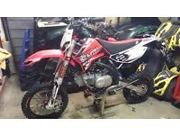 Apollo rfz elite s 150 french race bike pitbike brand new 1 hr top of the range cost £1500