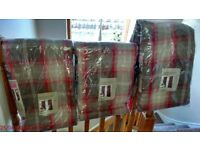 Dunelm red Highlandcheck curtains brand new never been used 3pair one 90x108 2 pairs 66x108