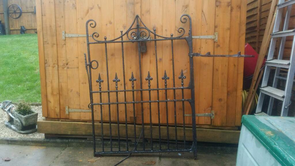 Very old cast iron vintage garden gate for sale