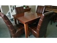 Oak 4-8 Seat Dining table & chairs