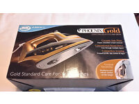 NEW & BOXED - JML Phoenix Gold: Ceramic Steam Iron with Built-In Steam Generator