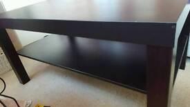 Ikea coffee table brown/black