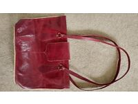 Beautiful hand made 100% goat leather hand bag