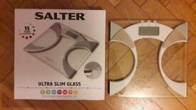 Salter Ultra Slim Analyser Bathroom Scales, Measure Weight BMI Body Fat Percentage Body Water