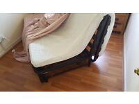 Fold down double bed settee. good condition. The cover is a throwover which can be changed.