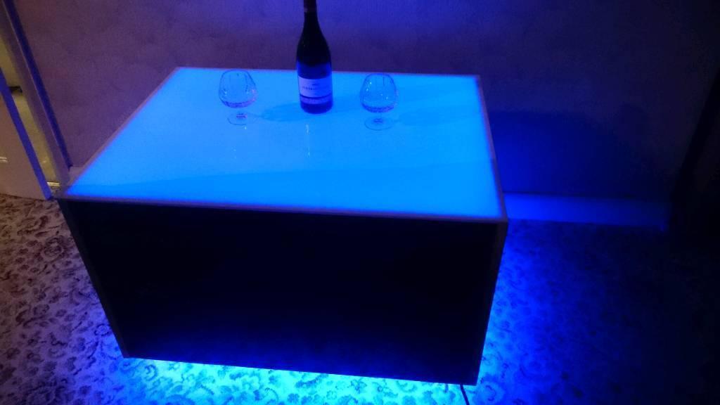 Coffee table (night club style)