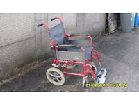 LOMAX ATTENDANT WHEELCHAIR COMPLETE IN GOOD COND