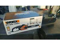 Worx wg303e electric chainsaw brand new unopend
